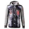 Denim Patchwork Style Jacket Men Hooded Sportswear Outdoors Casual Jeans Jackets Hoodies Cowboy Mens Jacket Coat