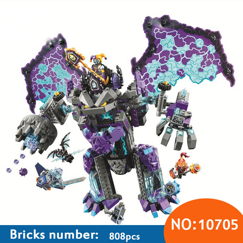 808PCS Nexus Knights The Stone Colossus of Ultimate Destruction Building Blocks DIY Toy Christmas Gift Compatible With 70356
