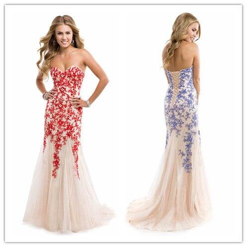 2015 Cheap Evening Dresses Maxi Dresses Sheath Lace Floral Appliques ...