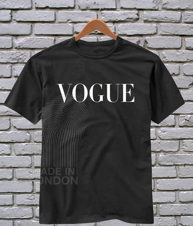 Women Tshirt Vogue Letters Print Casual Cotton Funny Shirt -1546