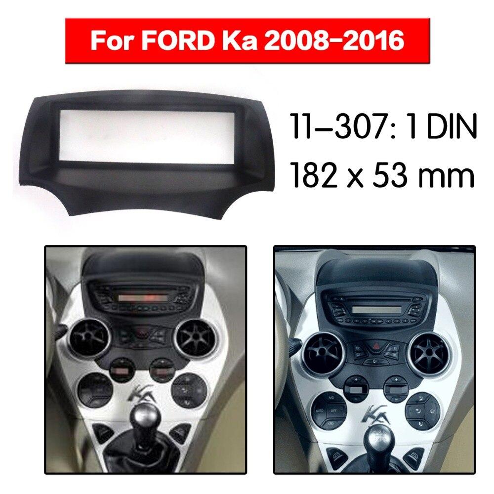 1 din Radio samochodowe deski rozdzielczej dla FORD Ka 2008 + Stereo deski rozdzielczej deski rozdzielczej zestaw montażowy 11-307