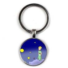 NEW Cute Anime Little Prince Pattern Badge Keyring Men Women Keychain Car Key Door Accessories Children School Graduation Gift недорого