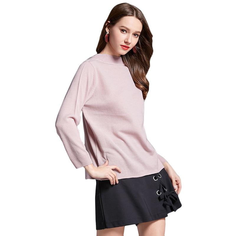 Sueter Mujer 2017 primavera Pullover femenino o cuello de