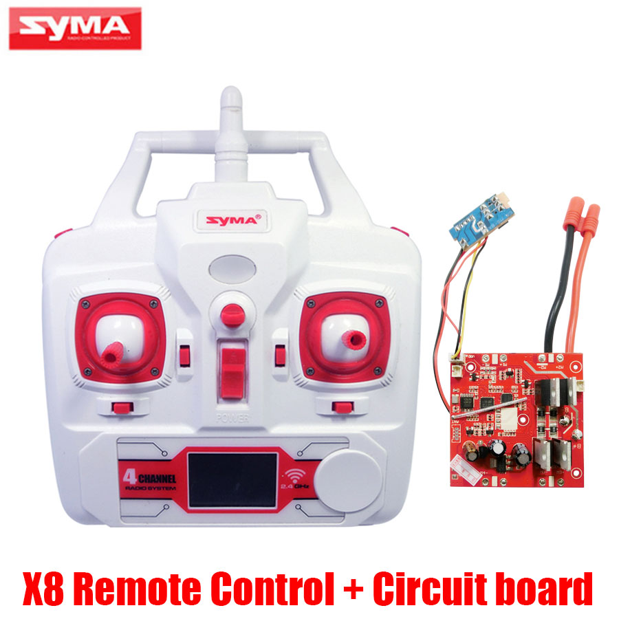 Original Syma X8W RC Drone Circuit Board PCB Receiver And Transmitter Remote Controller Spare Parts For X8C X8G RC Helicopters jjrc h20c rc quadcopter spare parts receiver board