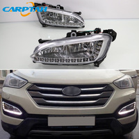 LED Daytime Running Light For Hyundai Santa Fe IX45 2013 2015 Plug&Play Waterproof 12V Fog Lamp Decoration Bumper Light LED DRL