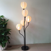 Modern 5 heads white flower floor light creative lotus Villa Club Hotel reception lobby lighting floor lamps Z115044