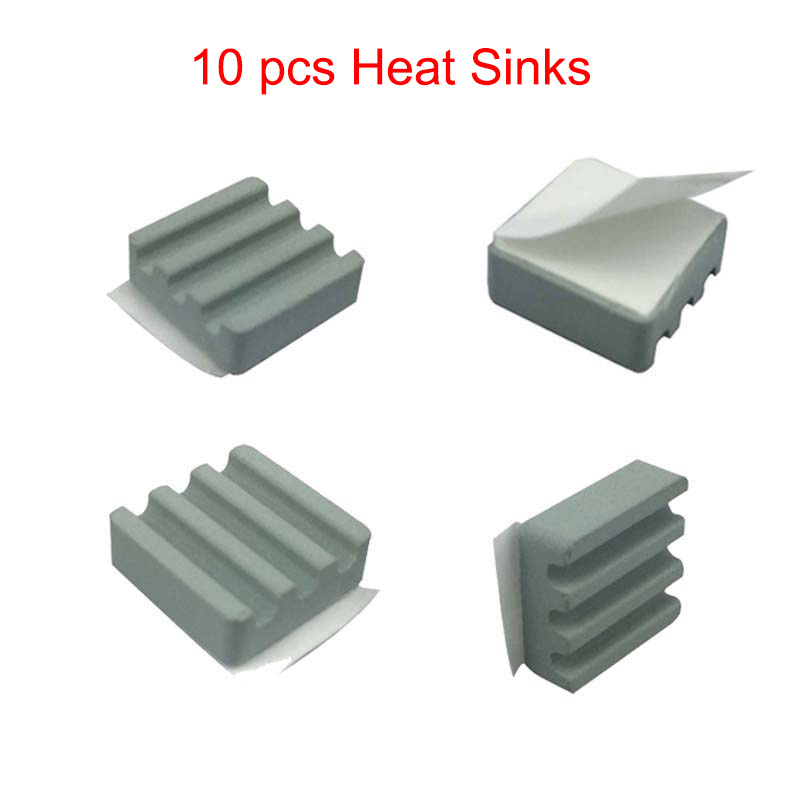 10 PCS Raspberry Pi 3 Heat Sink Ceramic Heat Sinks 15*15*5 Mm CPU Cooling Heatsink Dissipador For Orange Pi Raspberry Pi 2 B/B+
