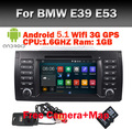 "In Stock 7"" Touch Screen Car DVD Player for BMW E39 Navigation Android 5.1 E53 X5 with Wifi 3G Bluetooth Radio Canbus 16GB"