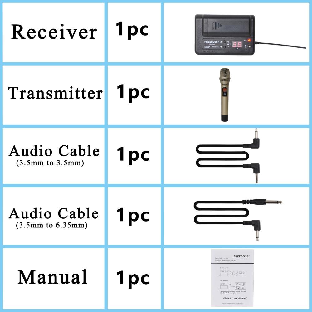 FREEBOSS FB-U03-2M 1 웨이 100 채널 메탈 핸드 헬드 - 휴대용 오디오 및 비디오 - 사진 4