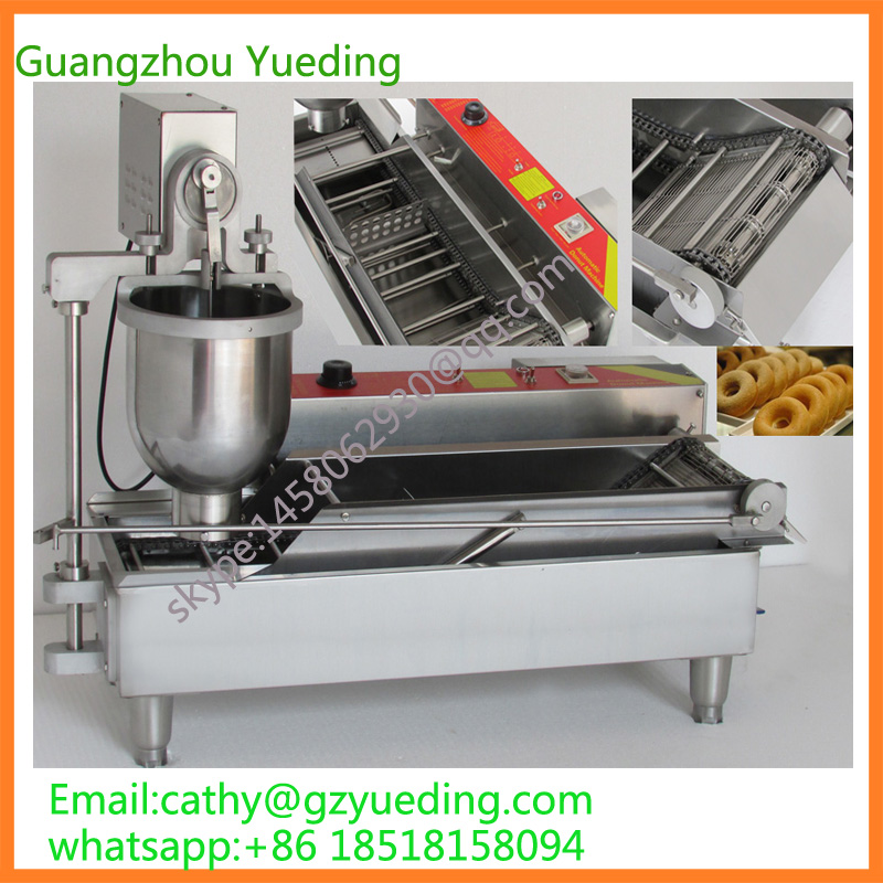 Guangzhou factory automatic donut machine,electric mini donut making machine donut making frying machine with electric motor free shipping to us canada europe