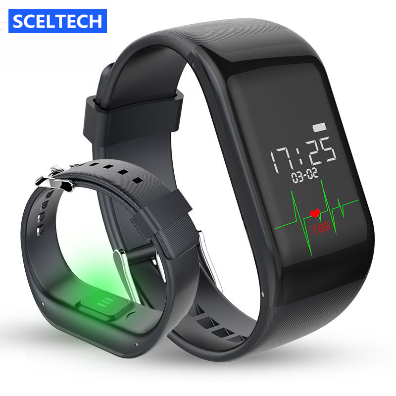 R1 Smart Bracelet Heart Rate Monitor Band Pedometer Sports Activity Tracker Moni