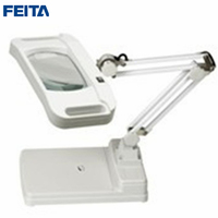 FEITA FT 86I Table Type 5X 10X LED (Latest) with Optical Magnifier with Lamps Magnifying for Industrial ,Electronic DIY Repair