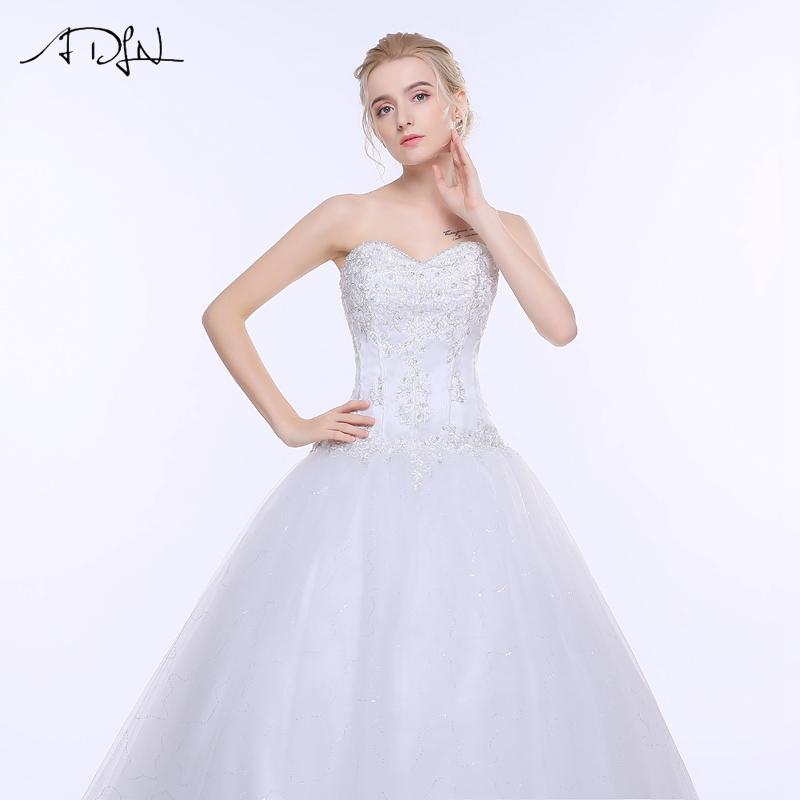 ADLN Wedding Dresses Vestidos de Novia Off the Shoulder Sweetheart Tulle Long Bride Dress Lace Up Back Plus Size In Stock 14