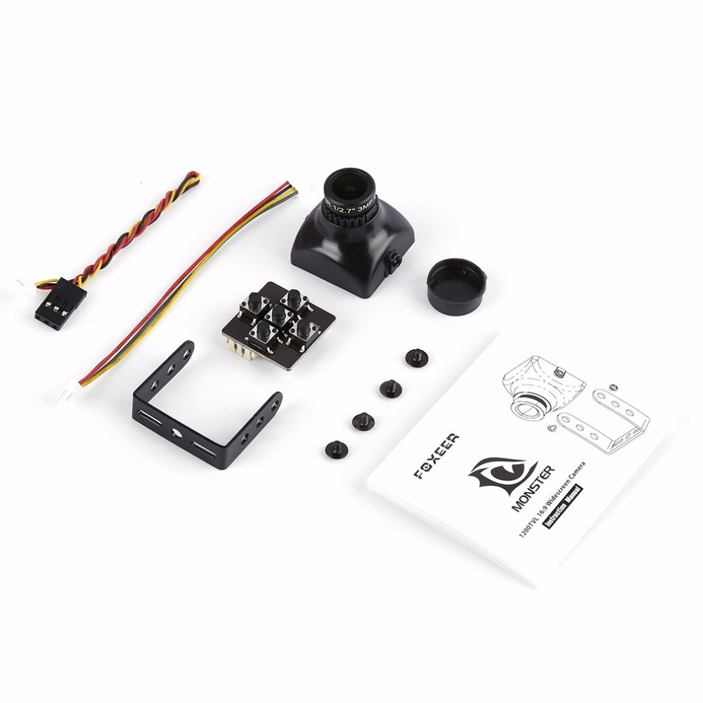 FOXEER XAT1200M 16:9 1200TVL DC5-22V FPV Camera Aerial Photography For RC Quadcopter Spare Parts Camera Drone Accessories original accessories mjx b3 bugs 3 rc quadcopter spare parts b3 024 2 4g controller transmitter