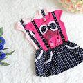 Bebê Meninas Miúdos Princesa Polka Dot One-pieces Vestido Cinto Vestido Criança 2-6A