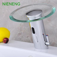 NIENENG sensor faucet bathroom sink mixer hot cold water automatic basin faucets hospital appliance taps medical tap ICD60229