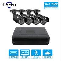 Hiseeu 4CH CCTV System 720P Mini DVR For CCTV Kit XMEYE 1200TVL 720P IR Bullet Outdoor