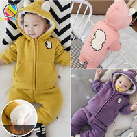 Lemonmiy Baby Winter Suits Girls 0 2T Newborn Baby Girl Clothes Thicken Winter Fashion Sheep Infants Pants+Coats Sets Snowwear