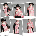 Fabulous 100% acrylic cashmere feel keep warm long style plaid shawl scarf scottish style gift