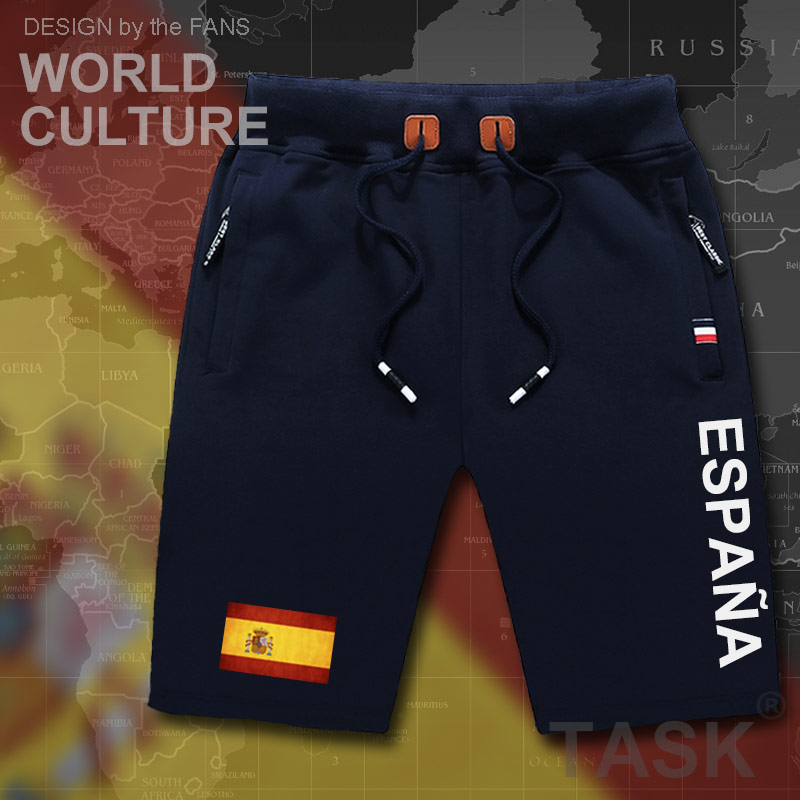 Kingdom of Spain Espana mens   shorts   beach new men's board   shorts   flag workout zipper pocket sweat 2017 new ESP Spanish Spaniard