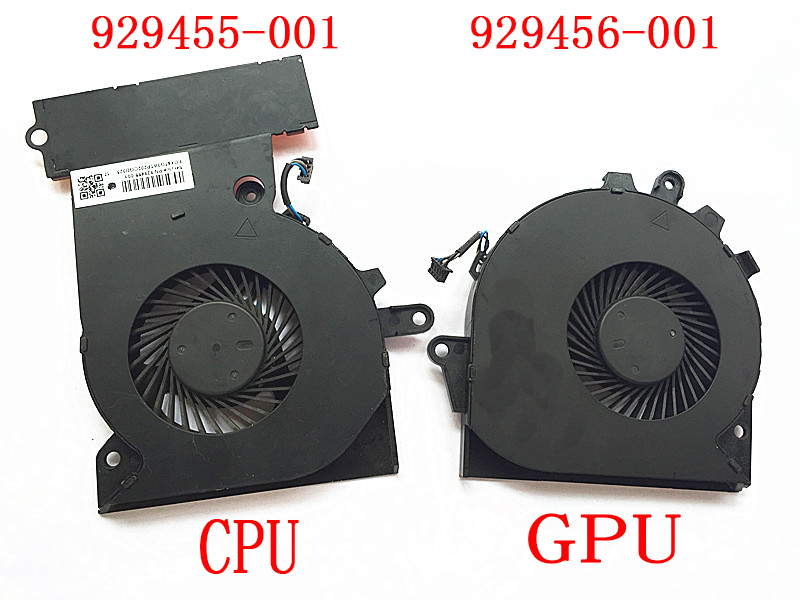 929455-001 929456-001 KBR Replacement G3A-CPU+G3A-GPU Cooling Fan Compatible with HP OMEN 15-CE 17-an Series Laptop P//N