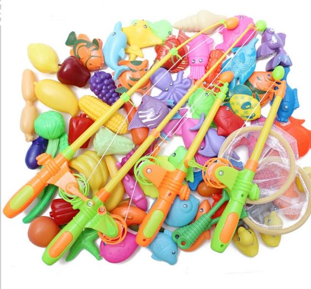69 pcs set satu besar set mainan memancing magnetik dilengkapi dengan 40  ikan 8022ab04de