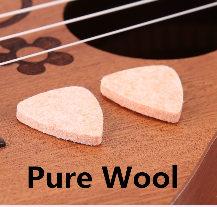 Pure Wool Guitar Parts Pick 12 Pieces Soft Guitarra Bass font b Musical b font Mediators