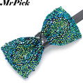 Rhinestone Bow Tie 2016 New Arrival Men Party Fashion Bridegroom Butterfly Ties Adjustable Size High Quality E1601