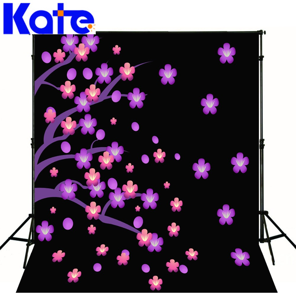 Kate Flower Backgrounds For Photo Studio 5x7ft Black Children Background Photography Washable Photo Studio Baby Shower Backdrop
