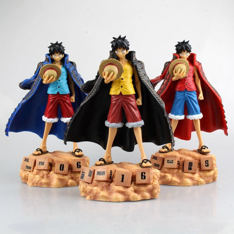 ФОТО one piece anime monkey d luffy  eternal calendar pvc action figure kids toys figuras anime collectible brinquedos 20cm