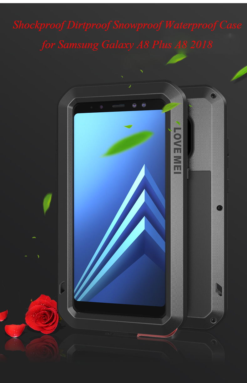 Aluminum Metal Cover For Samsung Galaxy A8 Plus Waterproof Full Body Heavy Duty Armor Case For Samsung A8 2018 Shockproof CaseAluminum Metal Cover For Samsung Galaxy A8 Plus Waterproof Full Body Heavy Duty Armor Case For Samsung A8 2018 Shockproof Case