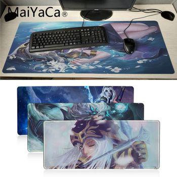 Maiyaca Ashe lol Liga de Leyendas chicas ratones gaming para portátil Mousepad Borde de bloqueo de Mousepad tapete de mesa para teclado Pad
