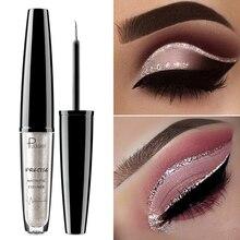 Pudaier Liquid Glitter Eyeliner Maquiagem Profissional Metallic Silver Waterproof Shimmer For Eyeshadow Eyes Makeup