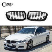 M3 Style Carbon Fiber / ABS Front Bumper Racing Grille For BMW 3 Series F30 F31 2012 IN 2 Slat Kidney Mesh