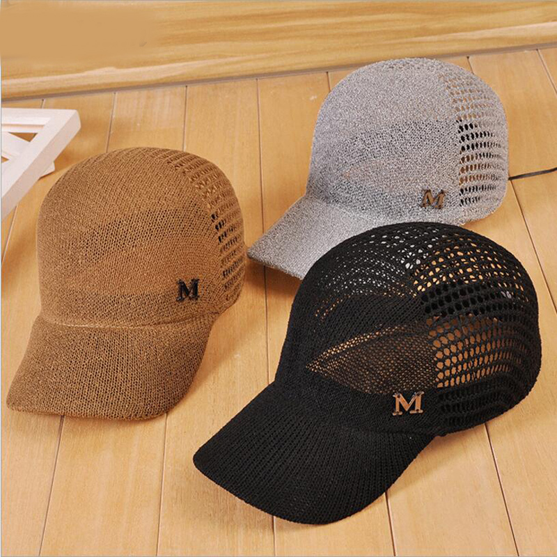 2018 New Hollow Summer Snapback Baseball Caps Letter M Equestrian Cap For Women Girls Breathable Sun Hat