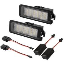 2Pcs 12V LED Number License Plate Light Lamps for VW GOLF 4 5 6 7 Polo