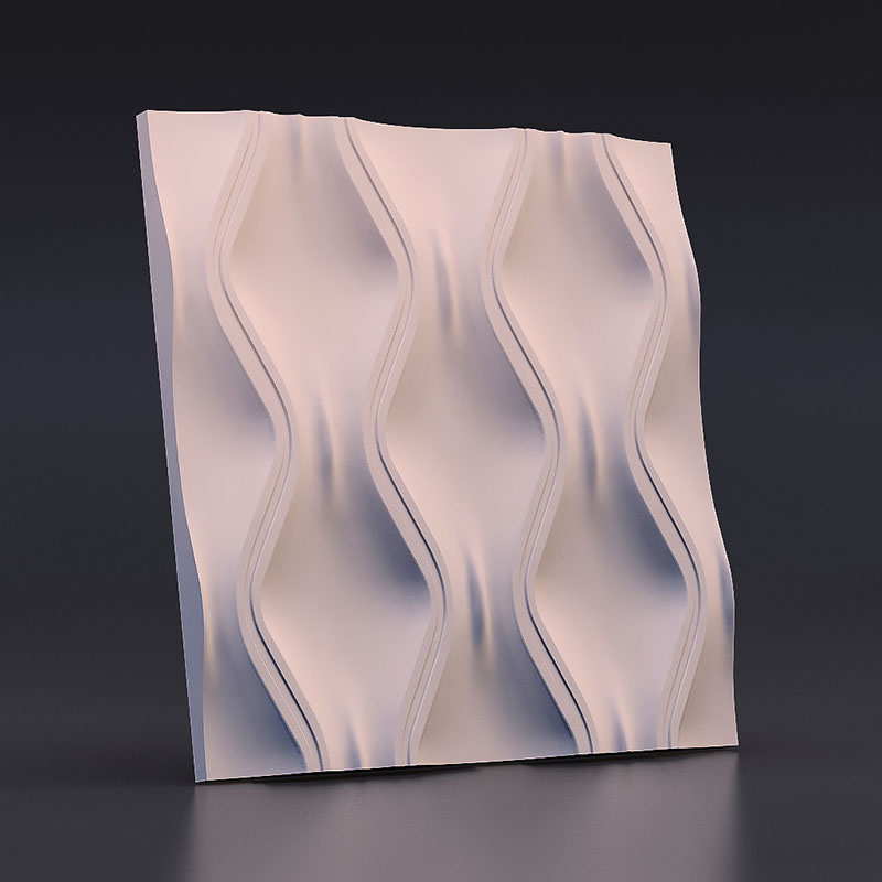 silicone mold for Plaster 3D Decorative Wall Panels ripple design concrete wall molds 28*3cm
