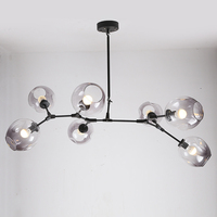 Lindsey Adelman Globe Branching Bubble Glass Pendent Light Chandelier Living Dinning Room Lobby Lamp Gold Bar Stair Fixture E27
