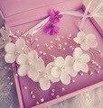 Moda Noiva Flor Tiara Headband do Cabelo Acessórios Do Casamento Jóias bijoux de tete Perlas Casamento Acessorios Parágrafo Mulher