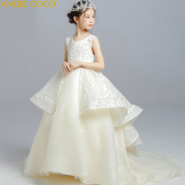 6e88a0bd1 Luxury Flower Girl Dresses For Weddings First Communion Dress For ...