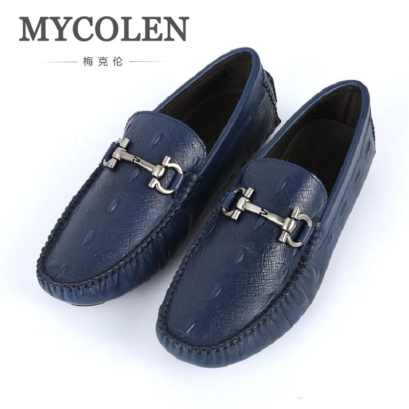 MYCOLEN New Fashion Man Loafers Solid Round Toe Casual Men'S Shoe Comfortable Flats Men Driving Shoes Chaussure Homme Sport vixleo new casual driving shoes lace up men flats fashion loafers black sneakers breathable male shoes chaussure homme