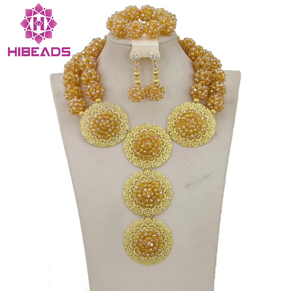 2017 Classic Design Nigerian Gold Costume African Jewelry Sets Wedding/Party Balls Necklace Jewelry Set Free Shipping BN0442017 Classic Design Nigerian Gold Costume African Jewelry Sets Wedding/Party Balls Necklace Jewelry Set Free Shipping BN044