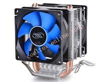 DEEPCOOL CPU cooler 2pcs 8025 fan double heatpipe radiator for Intel LGA 775/115x, AMD 754/940/AM2+/AM3/FM1/FM2 cooling