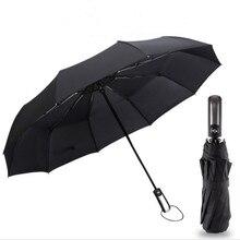 Ветер устойчивостью три складной автоматический зонт дождь Для женщин авто люкс Большой ветрозащитные Зонты Для мужчин кадр ветрозащитный 10 К солнца
