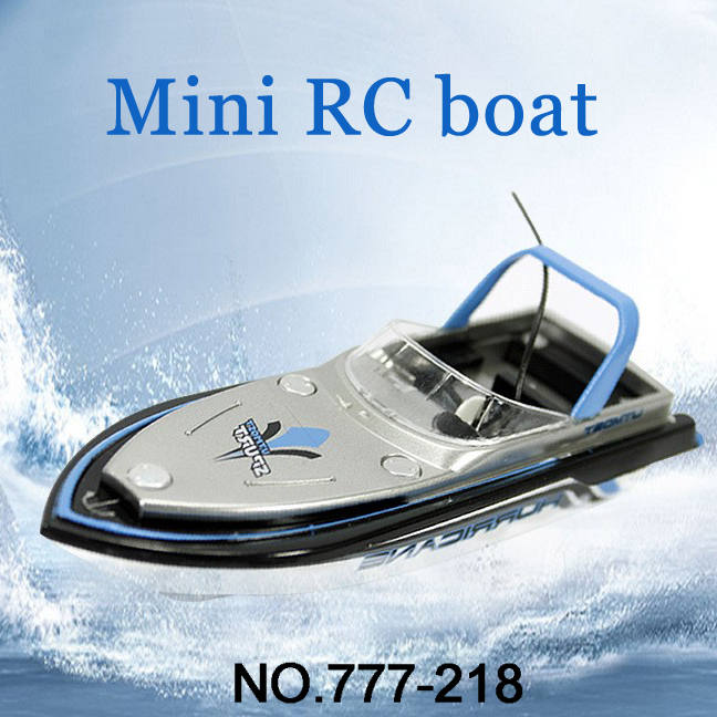 Brand New RC Boat Barco RC 777-218 Remote Control Mini RC Racing Boat Model Speedboat With Original Package Kid Gift FSWB