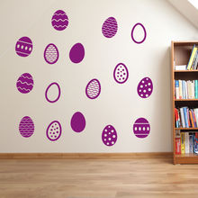 Kids Room Easter  Eggs Set Wall Decal Home Decoration Children Nursery Sticker Removable Decor Mural Paper For S-30