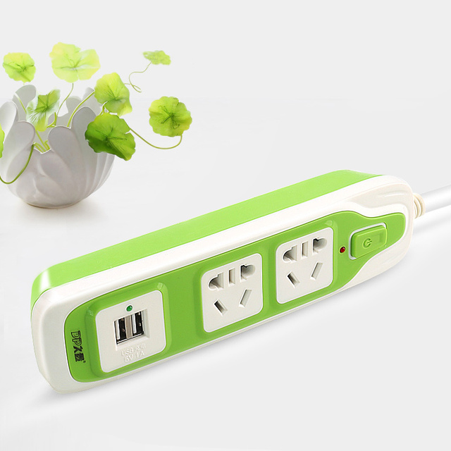 Electrical Outlet Plugs Power Strip USB for iphone 5s 6 with Pure Cooper extension Cable Power Socket with USB Plug Outlet