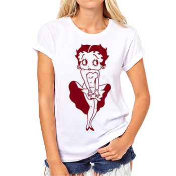 Girls fashion T-shirt Women white American T shirt Woman Tee Fashion Tops Street Hippie Punk Womens Tshirt S-38#