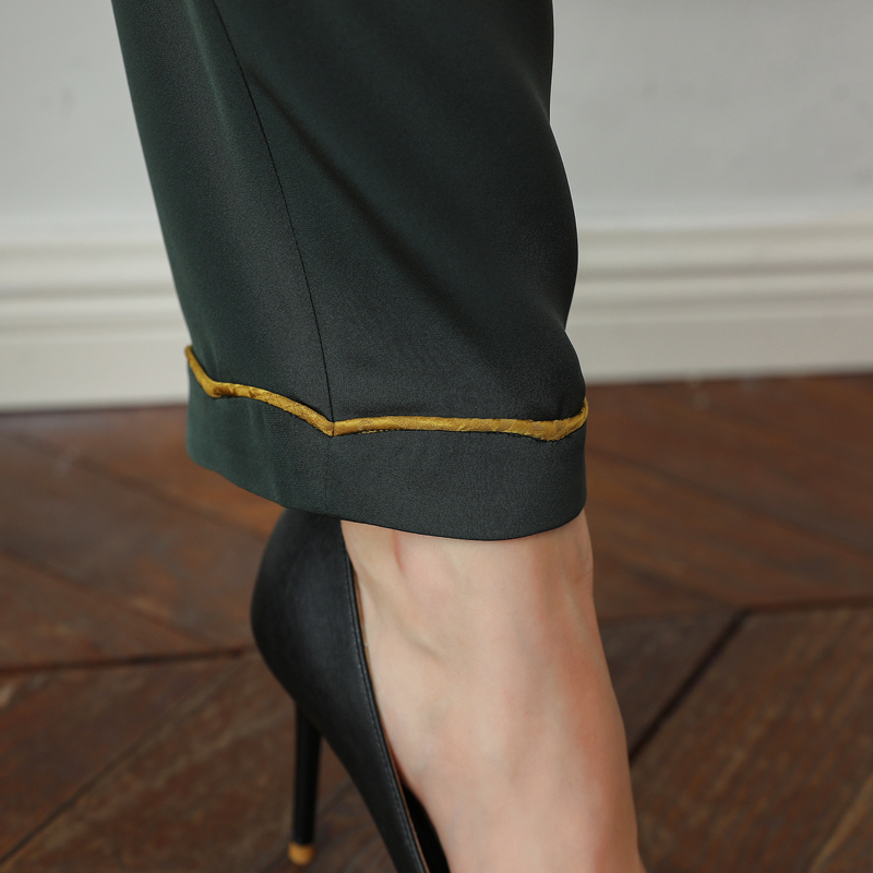 Recto K785 Streetwear Hosen Del De Cintura Alta Seda Militar Casuales Verde Joggers Voa Ejército Damen Broeken Mujer Pantalones pgxP5qwT