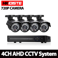 AHD 4CH 1080N HDMI DVR 1200TVL 720P HD Outdoor Security Camera System 4 Channel CCTV Surveillance